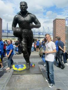 The statue of Dixie Dean