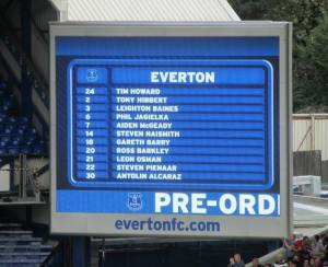 The Everton line-up