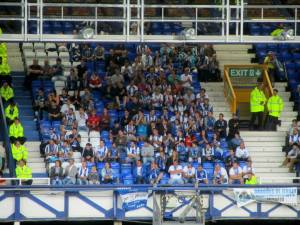 The away supporters
