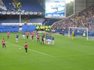 Porto line up a free kick