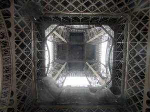 Looking up from under the tower