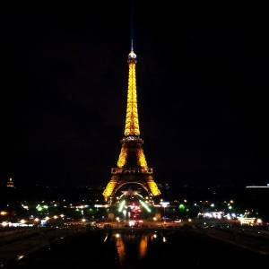 The tower viewed at night from the Trocadero. One of the most amazing sights in the world.