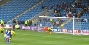 Rochdale score a late goal from the spot