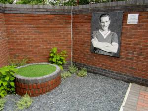 The corner of the garden