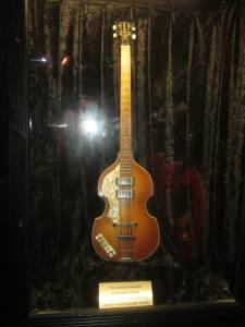 The guitar played by Paul McCartney at the Cavern in 1999