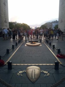 The tomb of the unknown soldier and the eternal flame