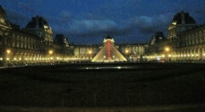 The Louvre at night, an impressive sight