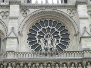 One of the windows of the cathedral