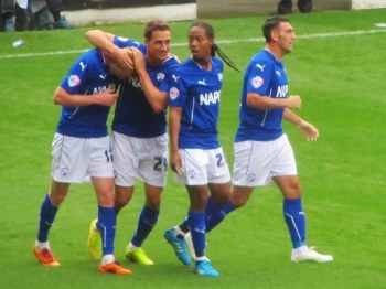 Chesterfield celebrate the equaliser