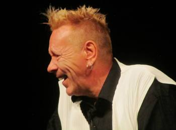 Lydon jokes with the audience
