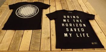 A couple of shirts from the new clothing line