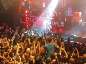 The crowd go crazy