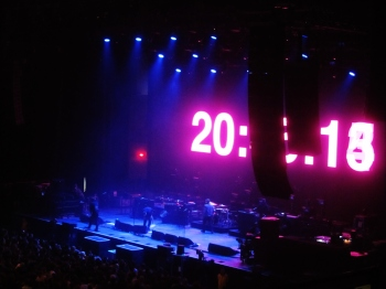 The countdown to Kasabian's arrival on-stage in Sheffield