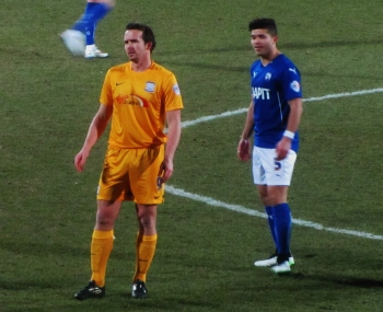 Kevin Davies make his first competitive appearance against Chesterfield, where he started his career