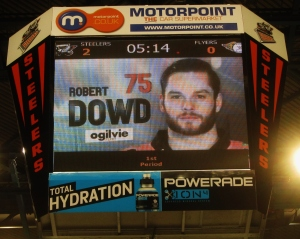 Robert Dowd, scorer of two Steelers goals today