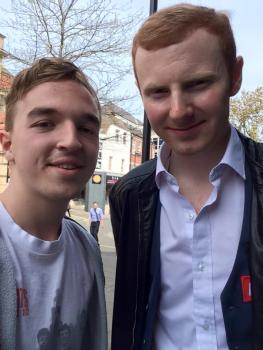 Anthony McGill after taking a 10-6 lead over Mark Selby this morning