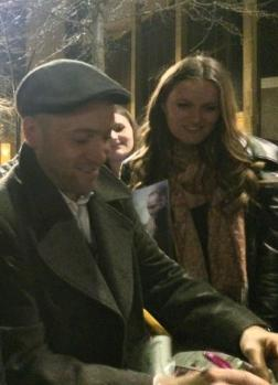 Derren signs for a fan