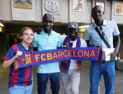 French Barcelona fans who we met on the way to the game!
