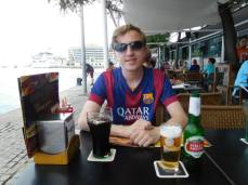 In Barcelona ahead of the evening's game