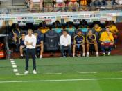 Luis Enrique watches from the touchline