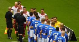 Pre-match handshakes