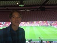 In the press box at Bramall Lane for the first time