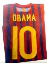 A shirt donated to US President Barack Obama