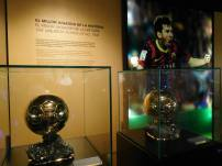 A couple of Messi's Ballon D'or trophies