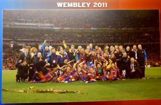 A commemoration to Barcelona's 2011 Champions League win at Wembley