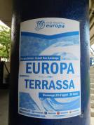 An advert for Europa's opening league game of the season