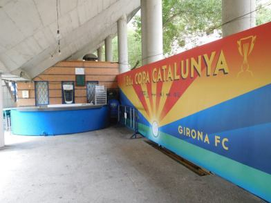 A mural to the club's Copa Catlunya victories