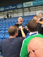 Keith Hill reacts