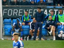 A downbeat Saunders on the touchline