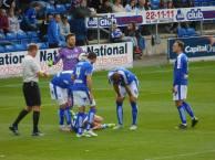 Liam O'Neil goes down..