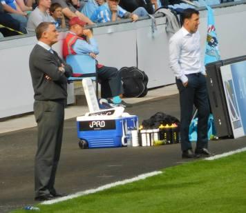 Tony Mowbray and Dean Saunders