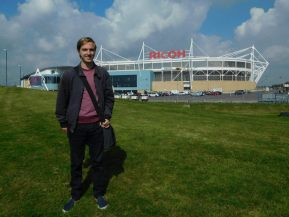 Arriving at the Ricoh Arena seven years later!
