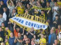 Delighted Brewers fans celebrate