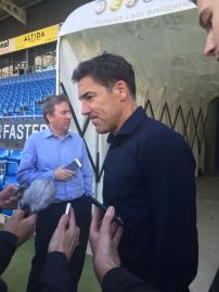A disappointing and frustrated Dean Saunders