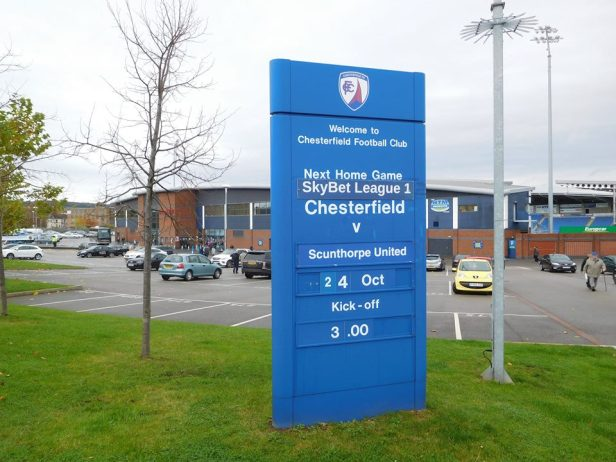 Chesterfield v Scunthorpe at the Proact Stadium