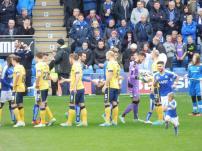 The pre-match handshakes
