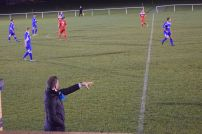 Hindley shouts orders from the touchline