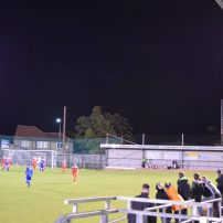 Some of the 63 spectators watch the action