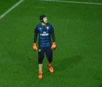 Arsenal goalkeeper Petr Cech warms up