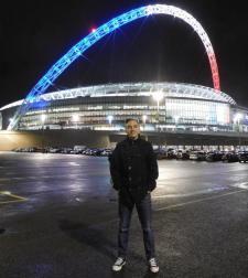 Arrived at Wembley Stadium