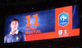 Manchester United's Anthony Martial is among the France line-up