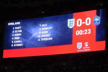 The England line-up