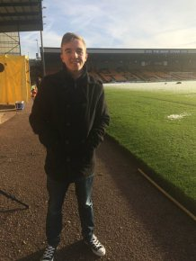 At pitchside on my first ever visit to Vale Park