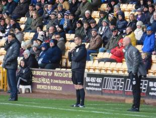 The two managers Dean Saunders and Rob Page, who formerly played for the Spireites