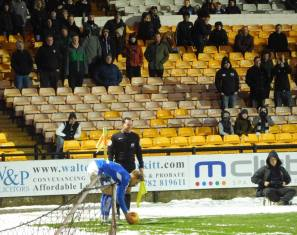 Dan Jones, an unpopular figure at Port Vale, takes a corner