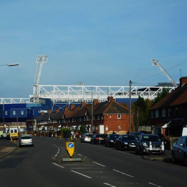 Our first view of the Hawthorns